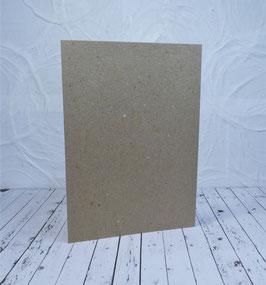 Wunschkarte - Rechteckige Karte Kraftpapier - 10.5 x 14.8 cm2 (A6)
