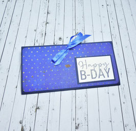 Geldgeschenkkarte Geburtstag 4 - Happy B-Day