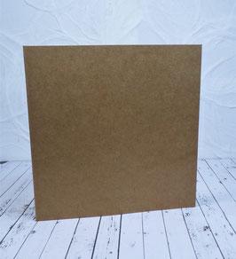 Wunschkarte - Quadratische Karte Kraftpapier - 13.5x13.5 cm2