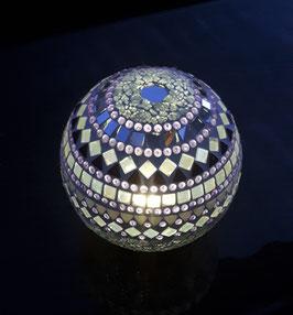 Solar-LED Mosaiklichtkugel - Lila