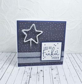 Wunderkerzenkarte Stern 3 - Lass die Funken sprühen