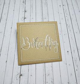 *Geburtstag* Handlettering-Midicard (Kraft)