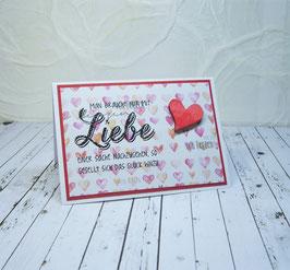 """""""Schöne Sprüche"""" Mini 8 - Man braucht nur mit Liebe..."""