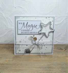 Wunderkerzenkarte Stern 1 - Magie liegt in der Luft