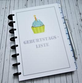 Agenda Zubehör - Geburtstagsliste