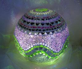 Mosaik Leuchtkugel 12 - Lila/Grün