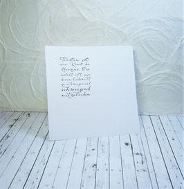 Einlageblatt 1 - Trösten ist eine Kunst des Herzens...