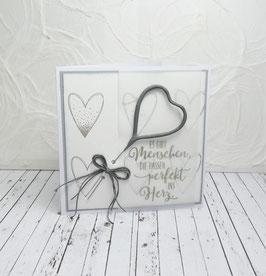 Wunderkerzenkarte Herz 1 - Es gibt Menschen...