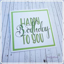 Lettering Geburtstag 11