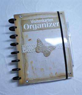 Visitenkarten Organizer - Braun