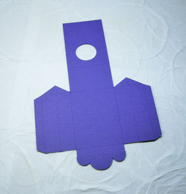 Papierrohling Seitenfaltverpackung klein - Rund