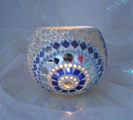 Windlicht Rondelle - Blau 1