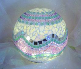 Mosaik Leuchtkugel 11 - Lila/Mint