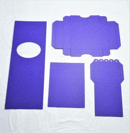 Papierrohling Teelichtbox Oval