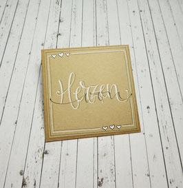 *von Herzen* Handlettering-Midicard (Kraft)