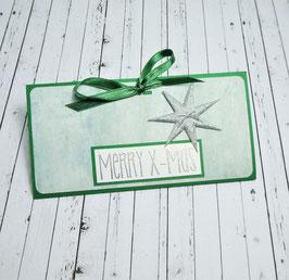 Geldgeschenkkarte Weihnachten 3 - Merry X-Mas