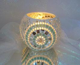 Windlicht Rondelle - Mint