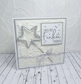 Wunderkerzenkarte Stern 4 - Lass die Funken sprühen