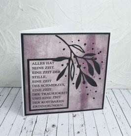 Trauerkarte 24 - Alles hat seine Zeit...