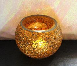 Mosaikwindlicht - Orange dunkel