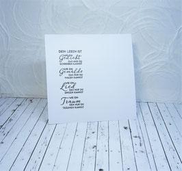 Einlageblatt 7 - Dein Leben ist wie ein Gedicht...