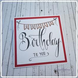 Lettering Geburtstag 27