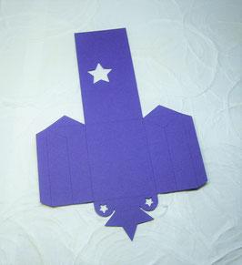 Papierrohling Seitenfaltverpackung klein - Stern