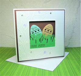 Osterkarte 4 - Frohe Ostern