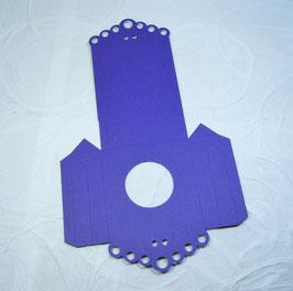Papierrohling Seitenfaltverpackung gross - Rund