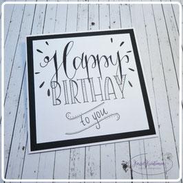 Lettering Geburtstag 26