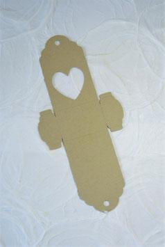Schokokugel Papierrohling klein - Sujet Herz