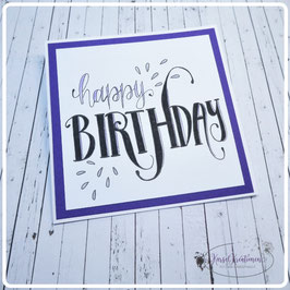 Lettering Geburtstag 12