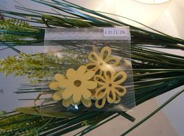 Holzblumen Gelb (6 Stk.)