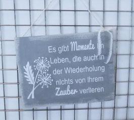 Holzschild - Es gibt Momente im Leben...