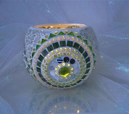 Windlicht Rondelle - Grün