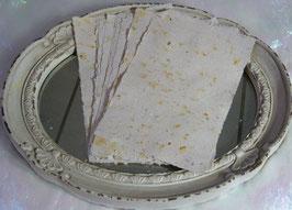 Handgeschöpftes Papier - Hellgrau (Blütenblätter)