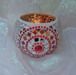 Mosaikwindlicht Rondelle 6 - Rot