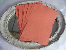 Handgeschöpftes Papier - Orange