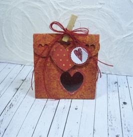 Seitenfalt - Verpackung mittel Swirldesign - Sujet Herz
