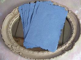 Handgeschöpftes Papier - Blau