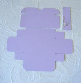 Küchleinbox Papierrohling mit Kerzlein und Halterung