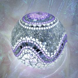 Mosaik Leuchtkugel gross - Lila