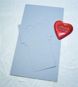Süsse Karte Papierrohling - Schokoherz