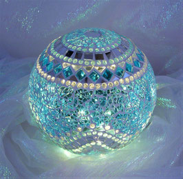 Mosaik Leuchtkugel 8 - Türkis