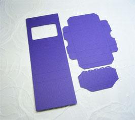 Papierrohling Schiebeschachtel mit Klappe