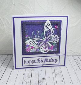 Schüttelkarte Geburtstag 3 - happy Birthday