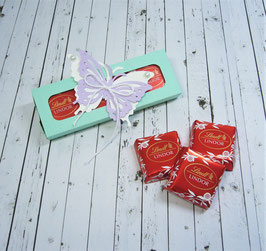 Schiebeschachtel Schokotäfelchen 5 - Schmetterling