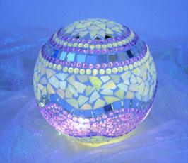 Mosaik Leuchtkugel 10 - Lila/Weiss