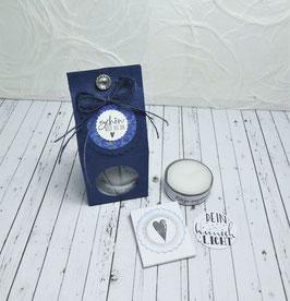 Kleine Teelichtbotschaft - Schön bist du da