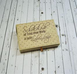 Schiebeschachtel kleine Schöggeli 4 - Schokolade ist Trost ohne Worte
